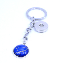 Ice Hockey Keychain NHL St. Louis Blues Charm Key Chain Car Keyring for Women Men Party Birthday Keyrings Gifts New 2018(China)