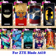AKABEILA Silicon Cell Phone Cases For ZTE Blade A610 V6 Max BA610 BA610T BA610C A 610 Cover Cat Tiger Captain American Shell