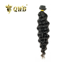 QWB Loose Wave Free shipping 12''~28'' Brazilian Virgin Hair Nature Color Queen Weave Beauty 100% Human Hair Weaving(China)