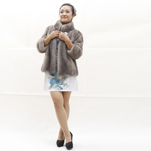 2016 Winter fashion Style Real short Mink Fur jacket genuine mink coat with stand collar