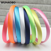 6pcs/lot 6 colors Glitter Girls Hair Clasp Headband For Women Satin Plastic Non-slip Glitter Hair Band Hair Women Band Head Hoop