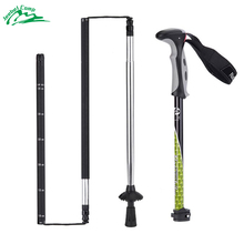 Naturehike Carbon Steel Walking Professional Climbing Staff Adjustable 4 Sections Foldable Climbing Trekking Pole 130cm 287g