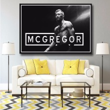 J1045- Conor McGregor Irish MMA Featherweight Champion Art Print Poster Silk Light Canvas Painting Wall Picture Home Decor(China)