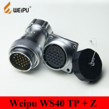 Original Weipu Connector WS40 TP + Z 5 9 15 26 31 Pin Male TP Metal Hose Cable Plug Female Z Square Flange Panel Mount Socket