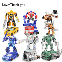 original Movie Cars Robots Toy Transformation 4 Cars Robots Action Figures Toys pvc Classic model Toys for boys gifts Brinquedos(China)
