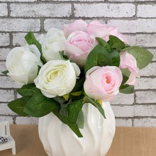 Artificial Flower Wedding Decorative Flower Queen Rose Home Decorative Rose Flowers  Good Bonsai Decoration Length is 11.5 inch