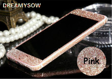 Mobile Phone Protective Case For Samsung Galaxy A5 A7 J5 J7 Prime Note3 4 5 7 S5 S6 S7 With Crystal Diamond Sticker Front+ Back(China)