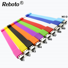 Reboto pen drive 4GB 8GB USB flash drive color silicone bracelet USB Stick 16/32/64GB Memory stick wristband U disk