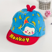 WENDYWU 2017 baby hats for girls baby boy hat cotton monkey hats for kids cotton muti-colors caps newborn baby caps pink blue