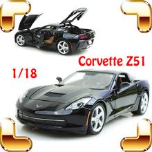 New Arrival Gift Corvette Z51 1/18 Large Racing Model Car Roadster Design Metal Vehicle Toys Openable Door Big Fan Collection