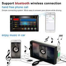 KKmoon 7inch 2Din Car Radio MP5 Player HD Bluetooth Car Stereo Radio Player FM Aux Input Audio Entertainment Rear View Camera(China)
