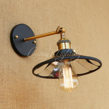 Retro Loft Edison Wall Sconce Industrial Wall Lamp Iron Mirror Glass Vintage Wall Light Fixtures Home Lighting Lampe Murale(China)