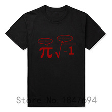 New Be Rational Get Real T Shirts Men NERD GEEK PI Funny Math T-shirts Top Tees(China)