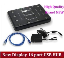 Free shipping via DHL /EMS Hot sale new display 16 port usb hub, hard disk production batch testing, cheap price 16pirt HUB(China)
