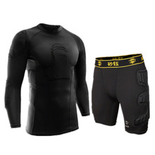2017 American Football Jerseys Survetement football sports safety protection thicken soccer goalkeeper jersey elbow protector(China)