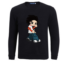 New Corduroy 3D Cartoon People Printing Sweatshirt Men's And Women's Loose Casual Pullovers Tracksuit Plus Velvet Sweatshirts(China)