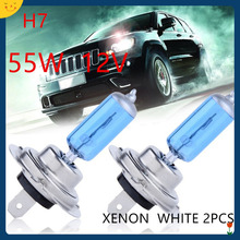 2pc Hot Selling H7 Halogen Xenon Car Light Bulb Lamp Cars Light Bulbs H7 12V 55W Factory Price Car Styling Parking Free Shipping