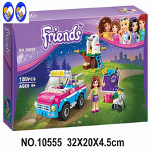 A Toy A Dream BELA 10555 Girl Friends Olivias Expeditions Auto Car Toys DIY Building Brick Toys Girl Gift Compatible Lepin 41116
