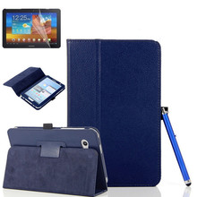 Hot sale for samsung galaxy tab 3 lite 7.0 T110 T111 7'' tablet PC Leather Stand flip Case Cover+screen protector + stylus pen