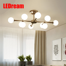 Restaurant light Contemporary and contracted warm bedroom artistic creative glass lamp sitting room(China)