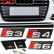 ABS Car grille badge car exterior decoration sticker for Audi A3 A4 A5 A6 A7 A8 s3 s4 s5 s6 s7 s8 b6