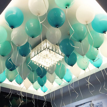 10Pcs/lot 10 Inch Tiffany Blue Latex Balloons Happy Birthday Party Event Decorative Romantic Valentine Wedding Decoration