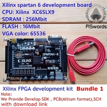 Xilinx spartan 6 FPGA development board Xilinx spartan6 XC6SLX9 with 256Mb SDRAM EEPROM FLASH SD card Camera VGA(China)