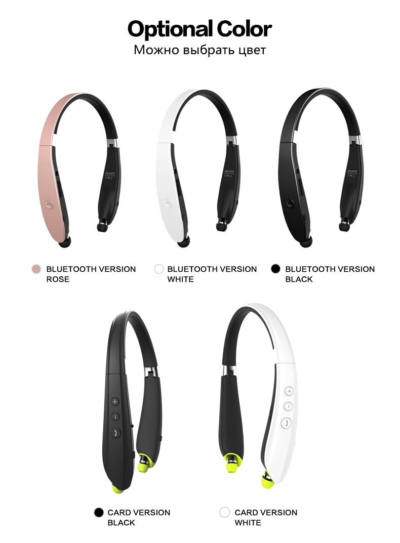 Plufy Wireless Earphones Csr41 Sports Bluetooth Headset With Mic Fs Razer Kraken Pro V2 White 1we