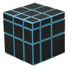Cube Style Miluo 5.7cm 3x3x3 Mirror Block(Blue Body with Black Carbon Fiber Sticker/Other Sticker)Magic Cube Puzzle(China)
