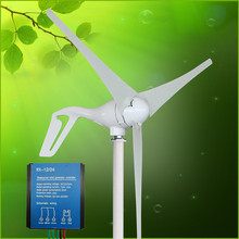 400W Wind Generator 12V 24V 3 Blades Small Wind Turbine Generator With RX-12/24 Waterproof Charge Controller Max Power 410W