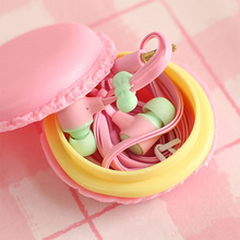 Cute Pink Girl Lovely long in-ear 3.5 box Earphone for Apple IPhone 5 5s 6 6s 7 plus Samsung Xiaomi mi5 SONY MP3 MP4 Huawei OPPO