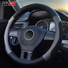 Massage Car Steering Wheel Cover Microfiber Leather Universal Steering-Wheel Covers 38 cm/15'' Auto Handlebar Braid Hot Wheels(China)