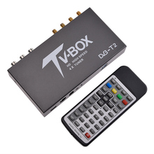 1080P HD DVB-T EN300 744/DVB-T2 TV Box HDMI USB AV MOV OSD DVB RCA Smart TV Box USB2.0 True Four Tuners Receiver(China)