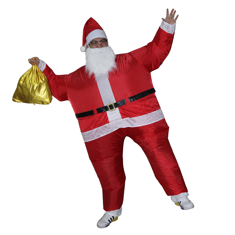 Special Christmas cosplay creative costumes Adult inflatable Santa Claus walking performance clothing With Gold Package(China (Mainland))
