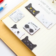 AB16 2pcs/pack Kawaii Cute Lovely Cat Magnetic Bookmarks Books Marker of Page Stationery Office Supply Kids Rewarding Gift