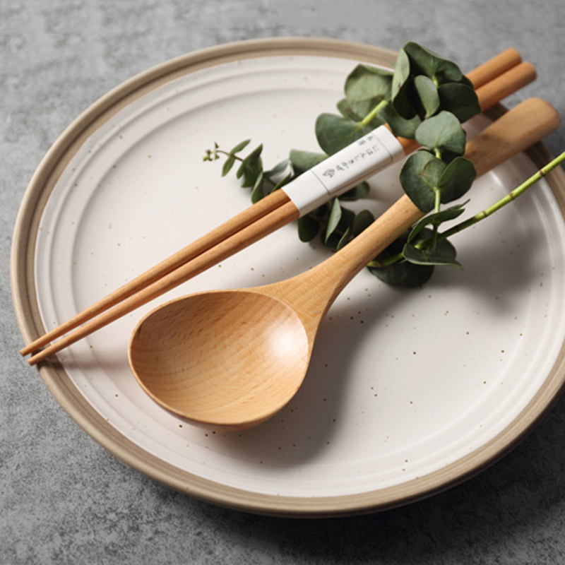 High Quality Wooden Spoon Large Soup Spoon Wood Dinner Cutlery Spoon Tablespoon Kitchen Ladle Wooden Cooking Utensils Tableware (3)