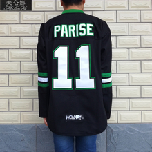 MeiLunNa Christmas Black Friday UND North Dakota Fighting Sioux #11 Zach Parise 1103 Black Alternate Jersey(China)