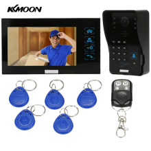 "KKmoon 7"" Video Door Phone Intercom Doorbell Touch Button ID Card/Code/Remote Unlock Night Vision Rainproof Security CCTV Camera(China)"