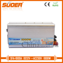Suoer dc to ac solar power inverter 12V 220V 1000W solar panel inverter(SFA-1000A)
