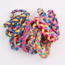 2017 Elastic hair rubber bands black Super elastic girl ponytail holders scrunchy ponies hair Accessories for women 1pcs