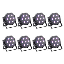 8 Pack 70W Super Bright 7 LED RGBW PAR Light DMX512 LED PAR Can Stage Light(China)