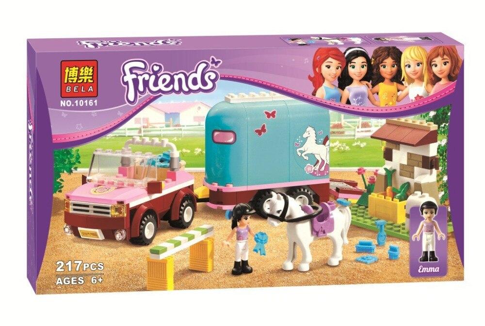 Hot Amigos ninas BELA 10161 Heartlake aeroclub Emma de remolque de caballos Andrea Olivia Mia Blocks  Toy ladrillos<br><br>Aliexpress