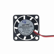 Gdstime 2pcs DC Blushless Cooling Fan 25x25x7mm 5V 2Pin 9 Blade Axial Flow Small Mini Cooler 25mm x 7mm 2507S