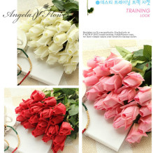 Free Shipping(11pcs/Lot) Fresh rose Artificial Flowers Real Touch rose Flowers, Home decorations for Wedding Party or Birthday(China)