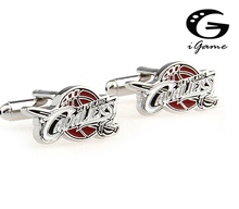 iGame Factory Price Retail Men's Cufflinks Copper Material Cleveland Basketball Team Enamel Cuff Links Free Shipping