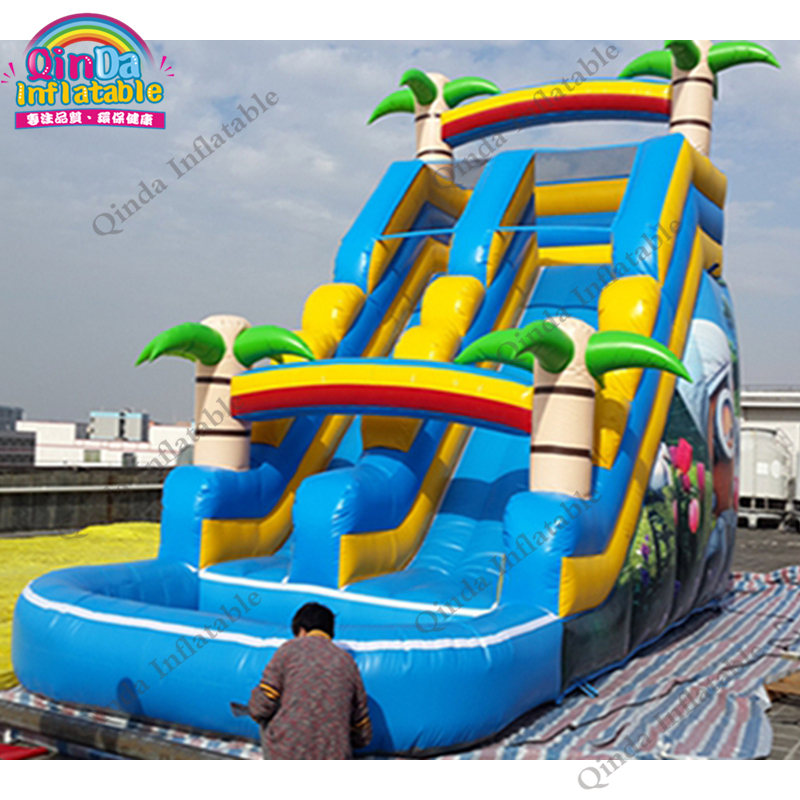 inflatable water slide with pool183