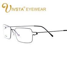 3fc6ae23c4 IVSTA Occhiali Al Titanio Uomini Senza Viti Retro Oliver Ultraleggero  Miopia Piazza Coreano Luna Jae-in Ottica occhiali da Vista.