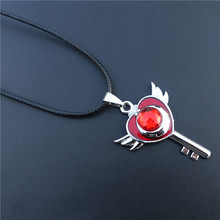 Gothic Silver Japanese Anime Jewelry Sailor Moon Collar Chocker Cosplay Pendant Heart Key Necklace
