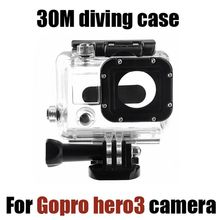 Tekcam Accessories 30 Meters Waterproof Diving Housing Case Box for Gopro Hero3 hero4 Action Camera(China)