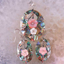 New  Fashion Natural New Zealand Abalone Shell Pendant Earrings 1Set  RK1330